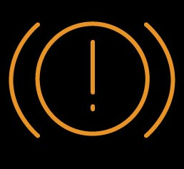 Parking brake warning light- Orange and yellow